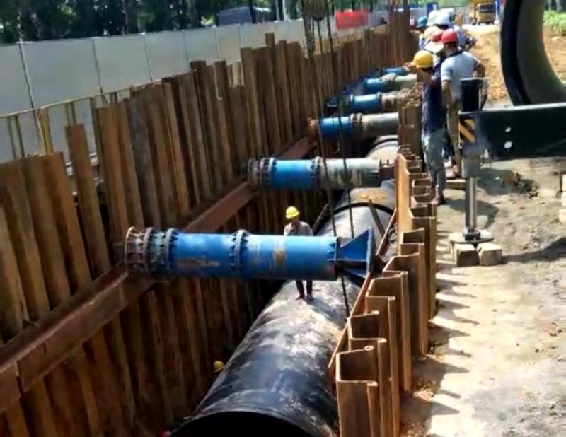 钢板桩施工现场